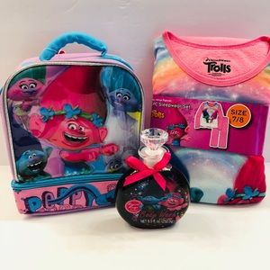 Other - TROLLS MIXED LOT PAJAMAS  7/8 LUNCH BAG BODY WASH